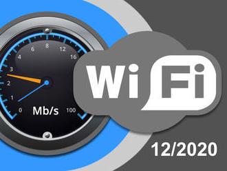 Rychlosti Wi-Fi internetu na DSL.cz v prosinci 2020