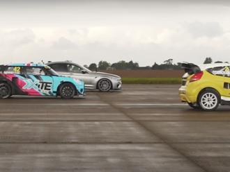 Drag race tuning BMW M5 proti rallycross autám