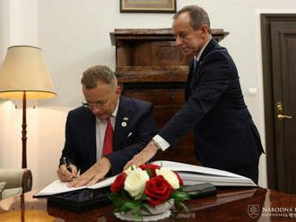 Boris Kollár v Poľsku hovoril o medziparlamentnej spolupráci i covide