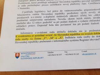 Slovensko malo oficiálne zaviesť používanie tretieho rodu, tzv. pohlavia X. Uhrík žiada od Mikulca i Hegera vysvetlenie