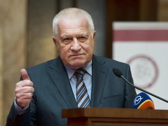 Exprezident Václav Klaus, ktorý odmieta rúška, sa nakazil koronavírusom