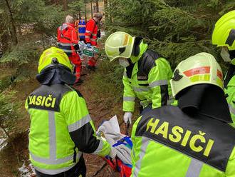 Dobrovolná jednotka zKytlic pomohla stransportem zraněného člověka na cestě kVelkému Bělskému…