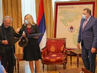Nobelista Handke navštívil Bosnu, jednu cenu mu předal Kusturica