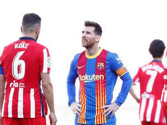 Messi premárnil šancu a šláger Atlética a Barcelony sa skončil bez gólov