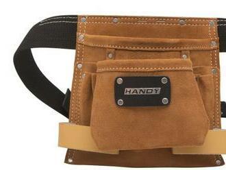 Praktická kožená taška na náradie s množstvom vreciek. Mimoriadne odolná, zosilnená kovovými nitmi.