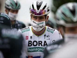 Peter Sagan v časovke na Benelux Tour v siedmej desiatke, bol najlepší z tria Slovákov