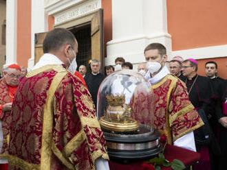 V Tetíně oficiálně začala Národní pouť, na místě je lebka sv. Ludmily