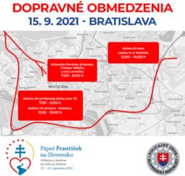 Dopravné obmedzenia v Bratislave, na hraniciach, v Šaštíne a okolí v stredu