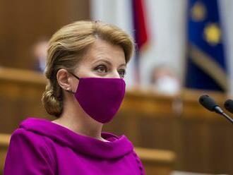 Prezidentka SR Čaputová vystúpi v parlamente so správou o stave republiky v utorok