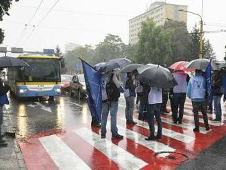 Odborári zablokovali Košice: Životná úroveň Slovákov sa zhoršuje